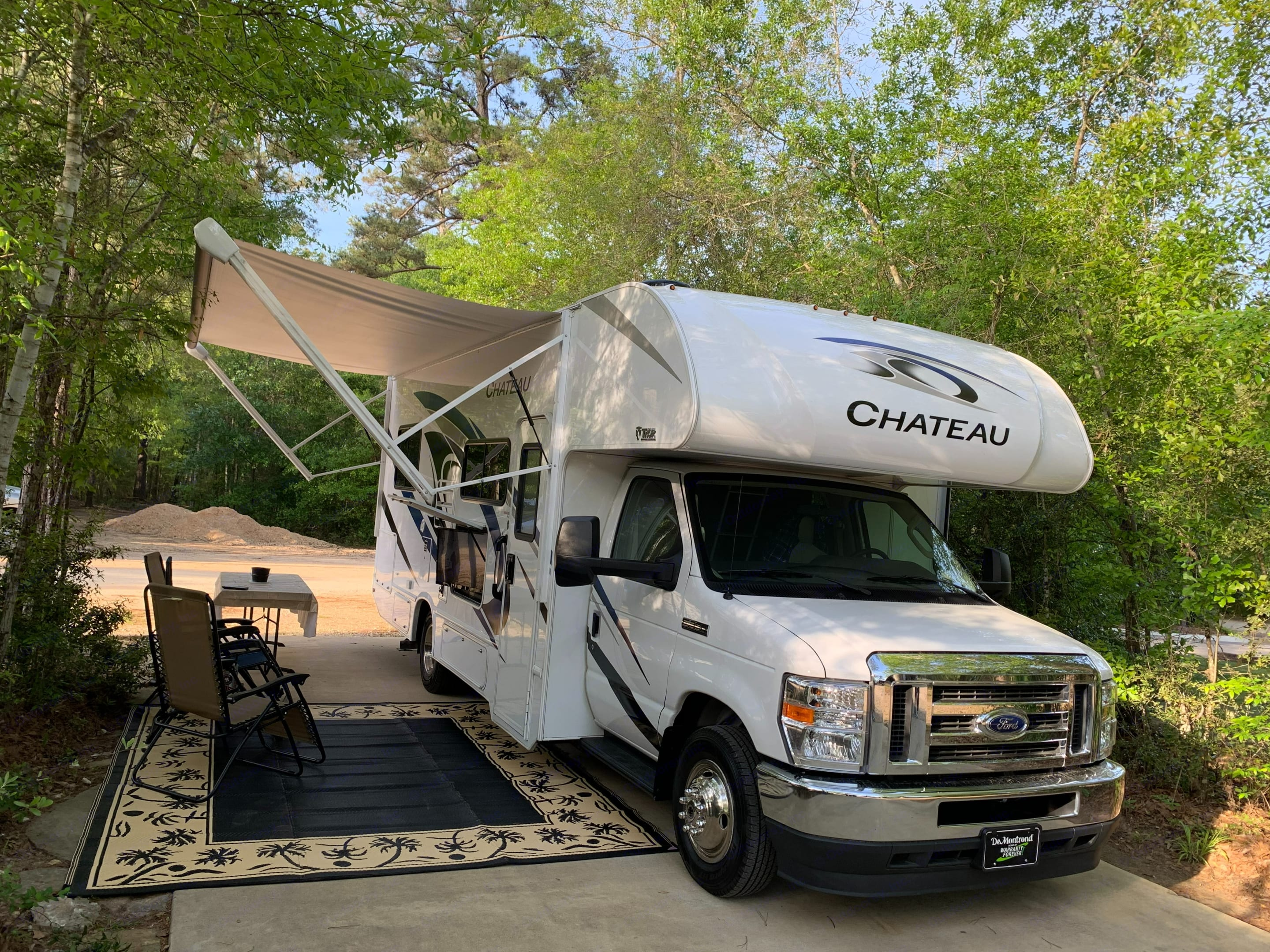 Enjoy relaxing outside and taking it easy.  . Thor Motor Coach Chateau 2021