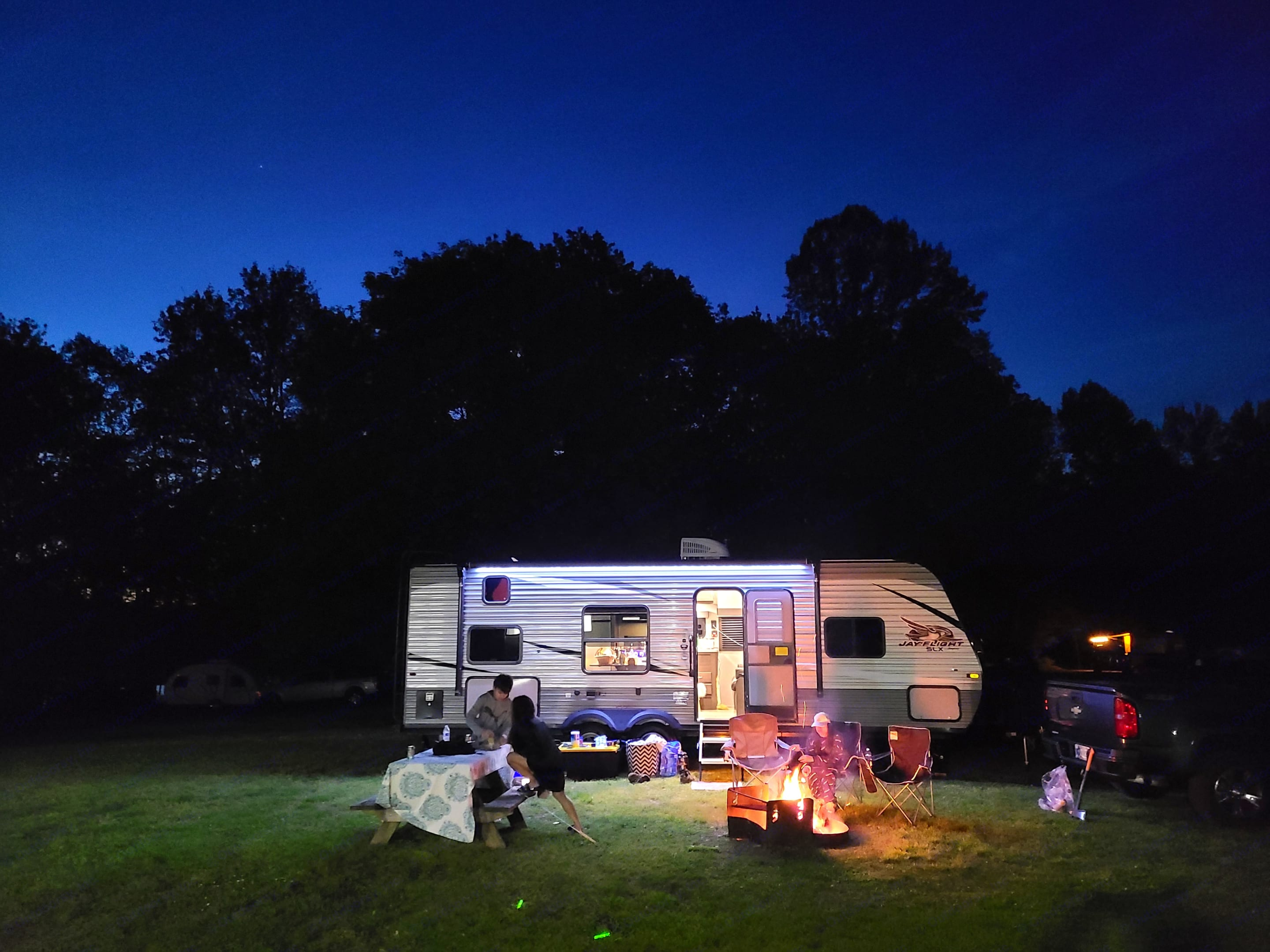 Recent photo of family enjoying the rental at Starve Hollow State Park.. Jayco Other 2021