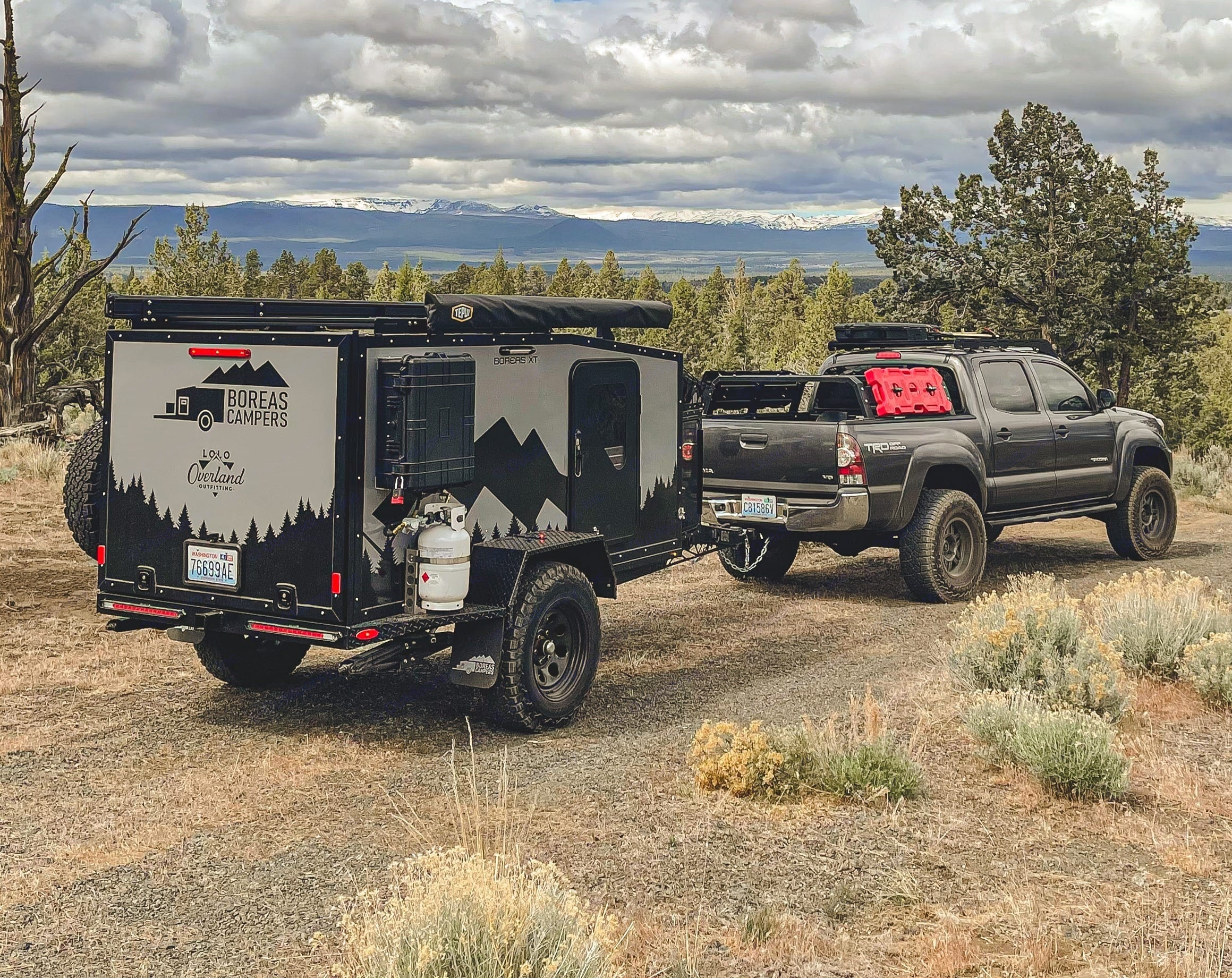 On the trail out in central Oregon with the 2021 Boreas XT trailer. Remote camping at its finest! Skip the reservations and crowds!. Boreas XT 2021