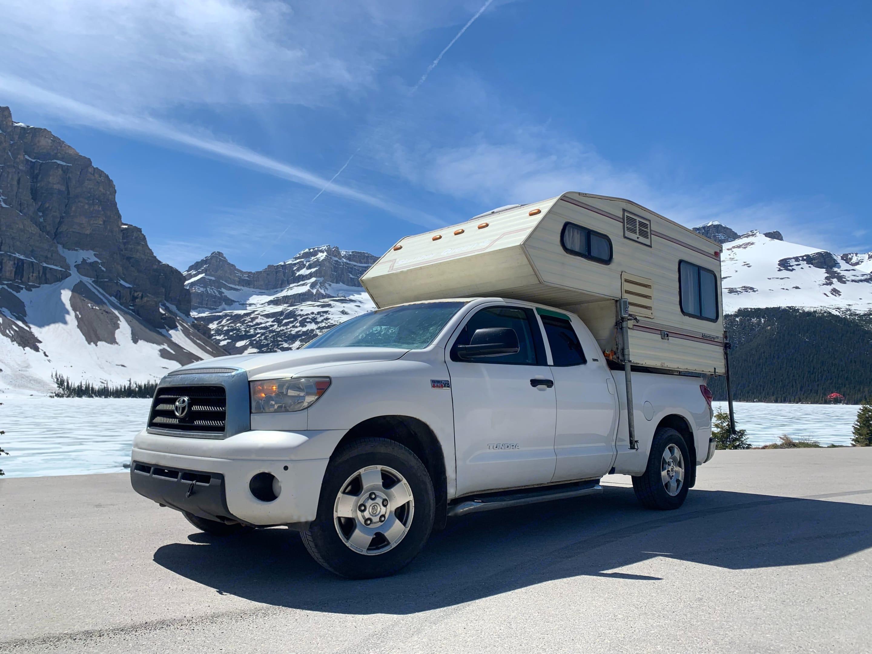 2008 Toyota Tundra 5.7L V8 w/ Slumber Queen Adventurer camper. Radventures Canyonero 2021