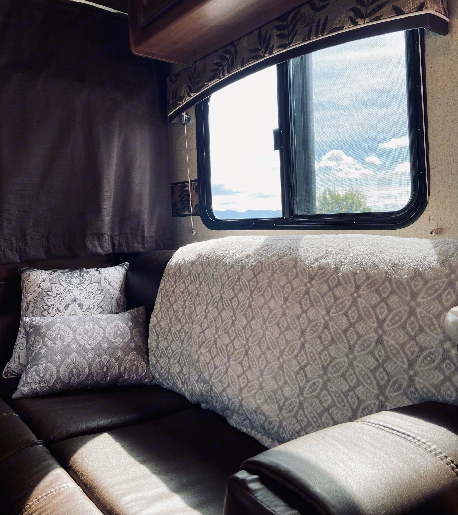 Couch makes into a 5x3 bed.. Jayco Jay Feather Ultra Lite 2015