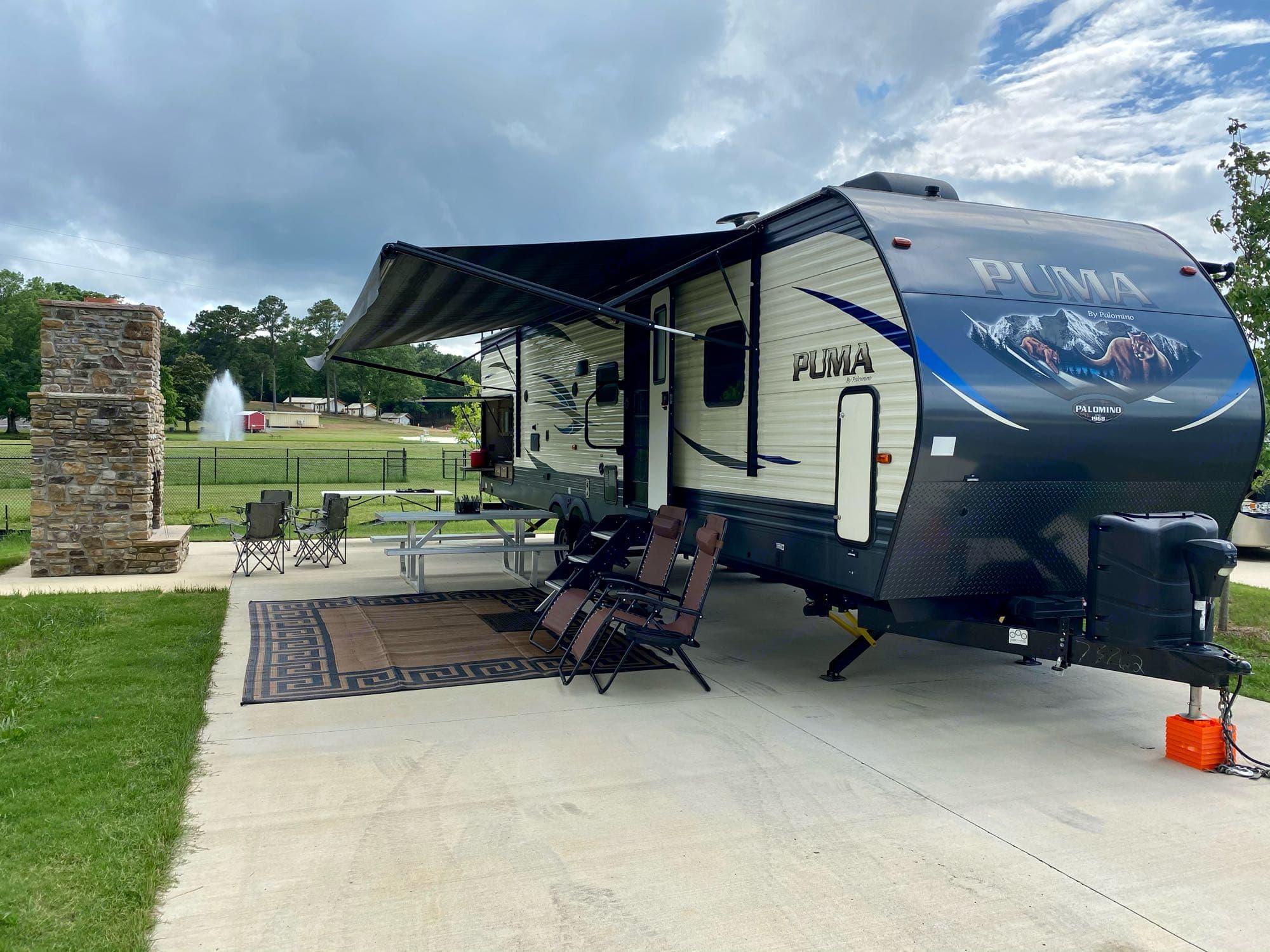 Palomino RV resort in Cullman, AL. Premium site 10. Palomino Puma 2018