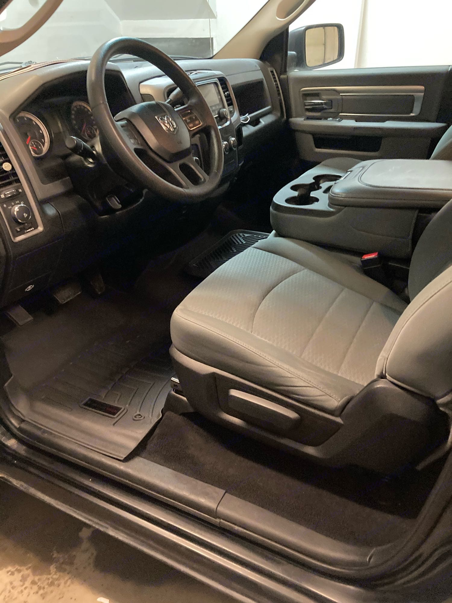 Weather-tech floor mats ready for the Prince William sound rain. Ram 1500 2015