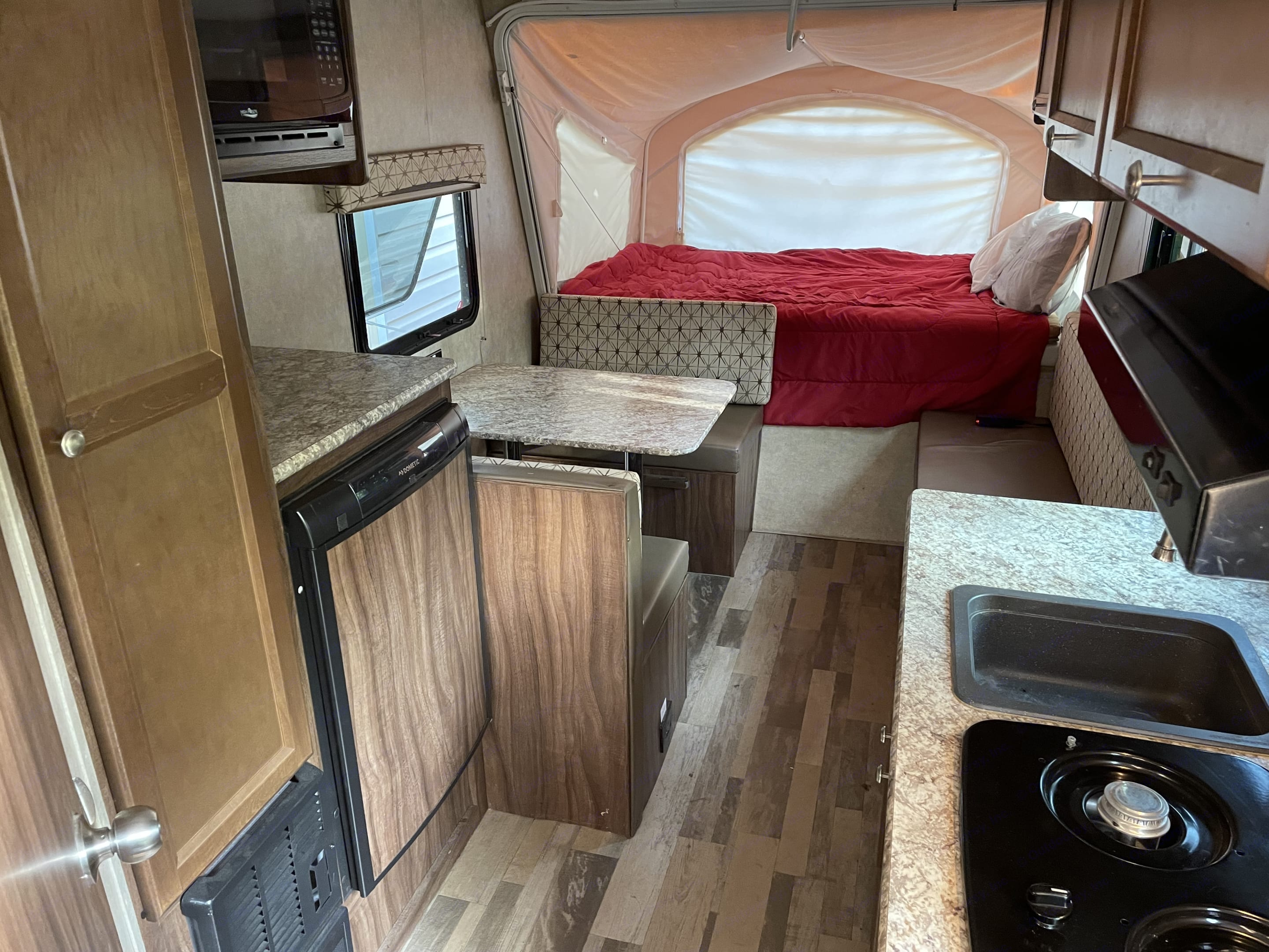Additional bed on the opposite side not shown.. Forest River Viking 2018