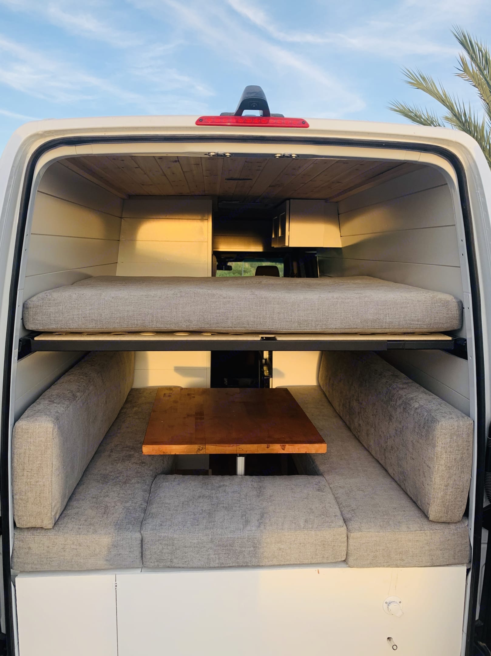 Bunk Bed is removable to open up headroom for dinette. Mercedes-Benz Sprinter RV Motorhome Campervan 2020