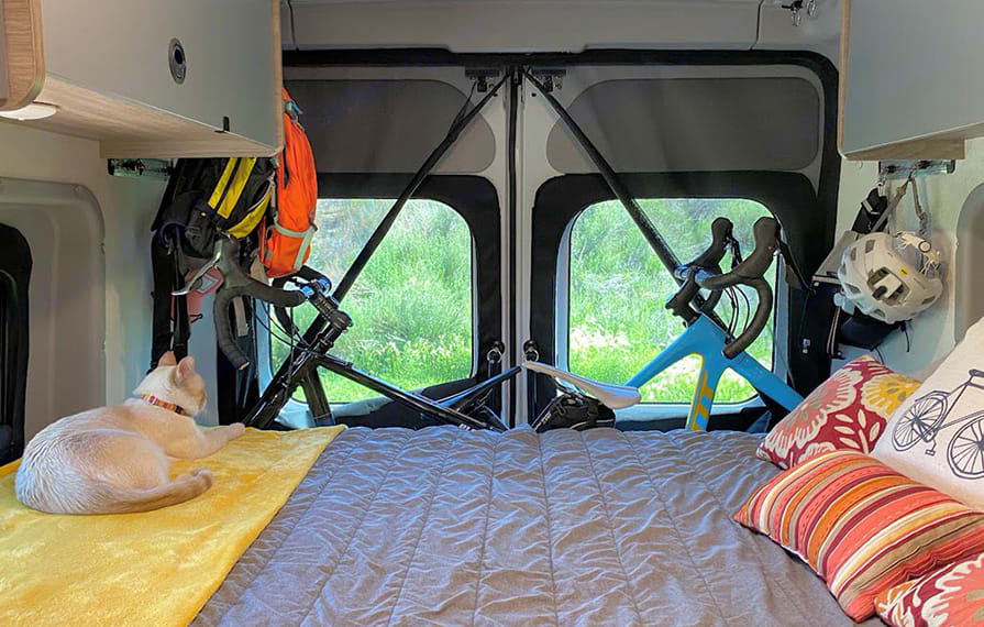 Folds down to a very comfortable sleep at the end of the night.. Winnebago Solis 59PX 2022