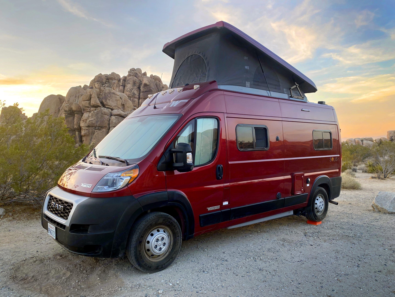 It's a campervan for four!  . Dodge Ram Winnebago Solis 2021