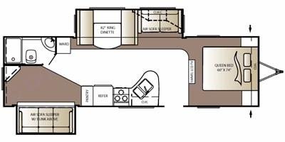 Floorplan that shows full layout!. Keystone Outback 2010
