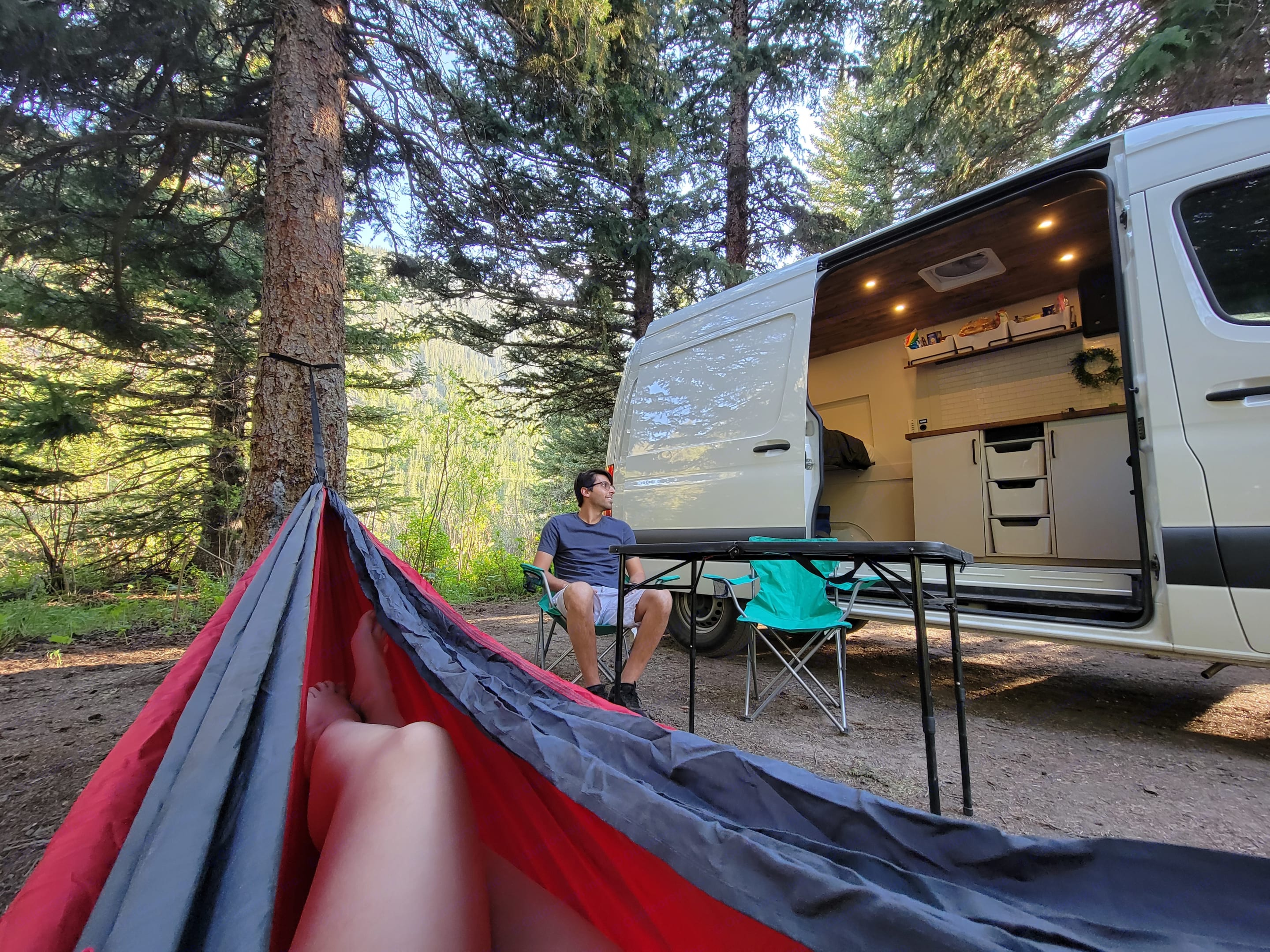 Nothing like relaxing in the woods WITH a campervan. . Mercedes-Benz Sprinter 2020