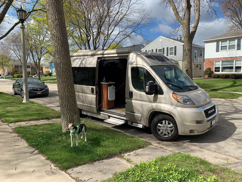 Visiting family in Wisconsin.. Roadtrek Promaster 2021