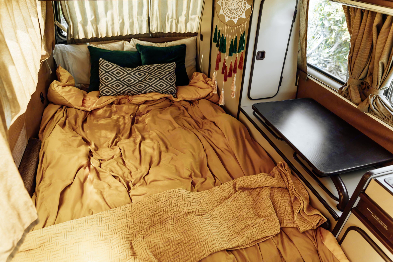 """futon"" bed. Volkswagen Westfalia 1986"