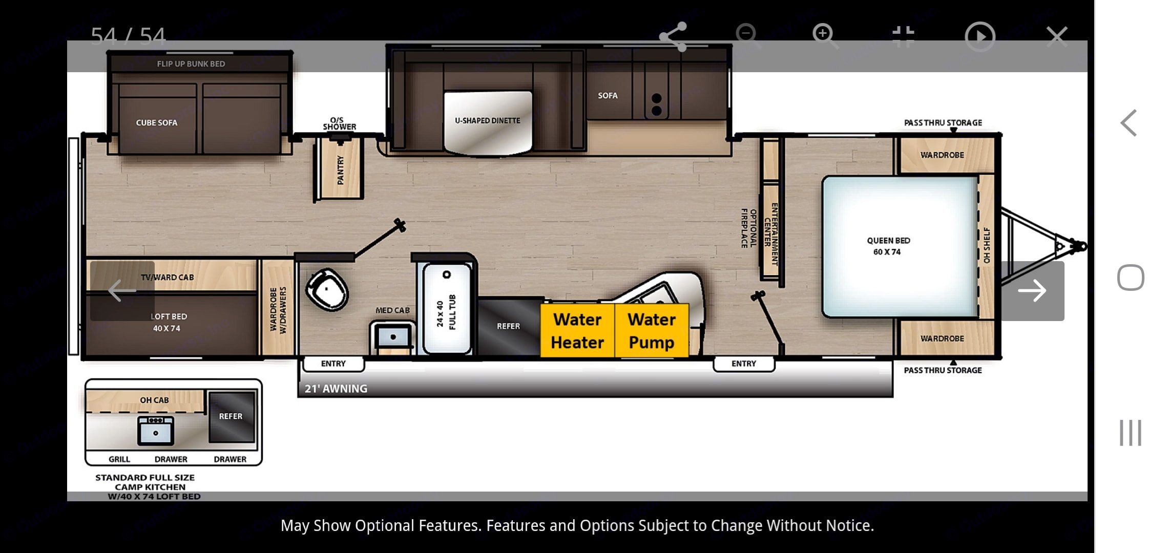 Perfect layout for a family or large group. . Forest River Aurora 32bds 2021