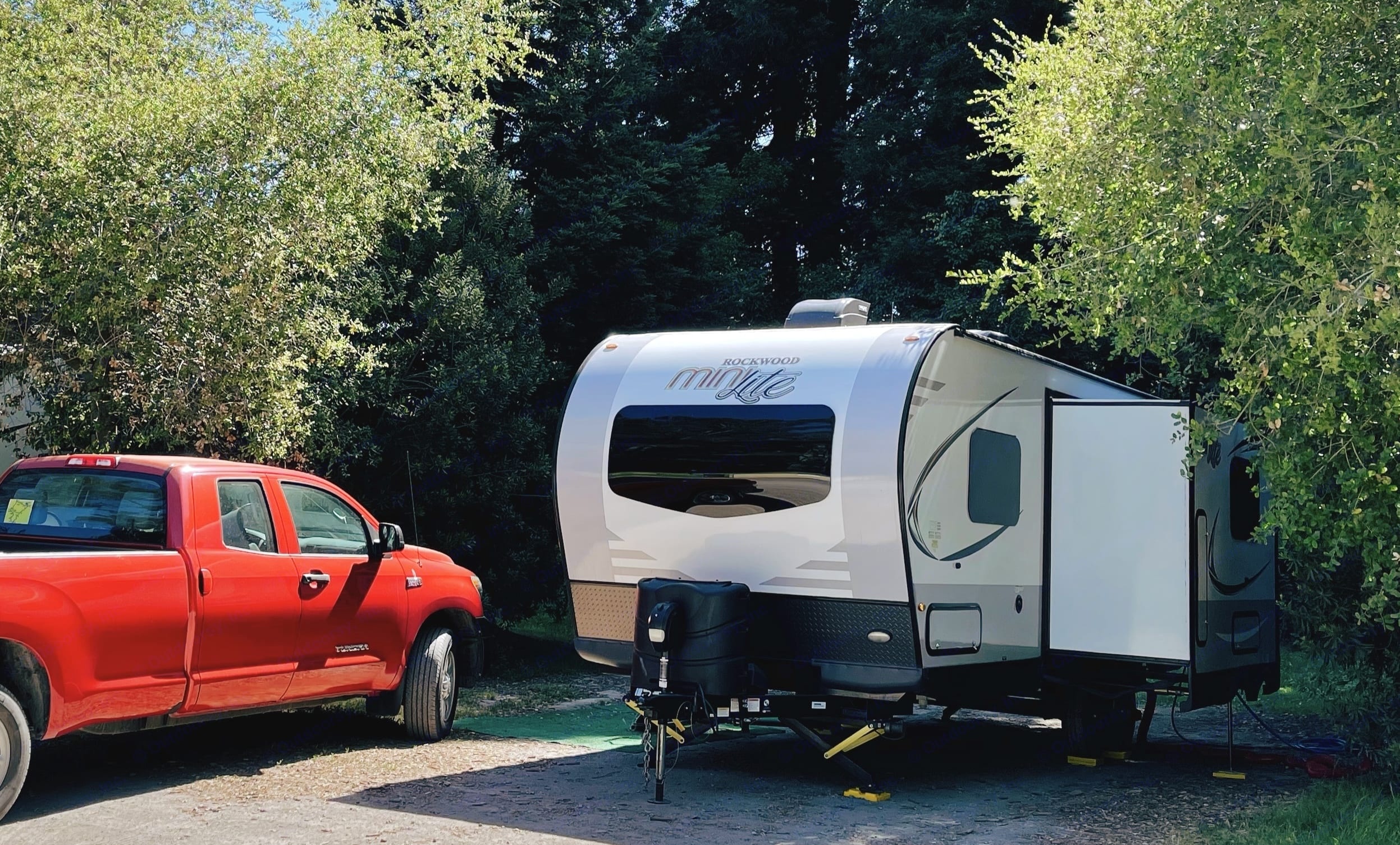 Exterior, Front and side with slide-out. Forest River Rockwood Mini Lite 2020