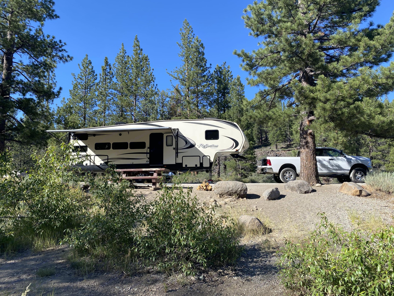 Upper Little Truckee Campground, CA. Grand Design Reflection 2018