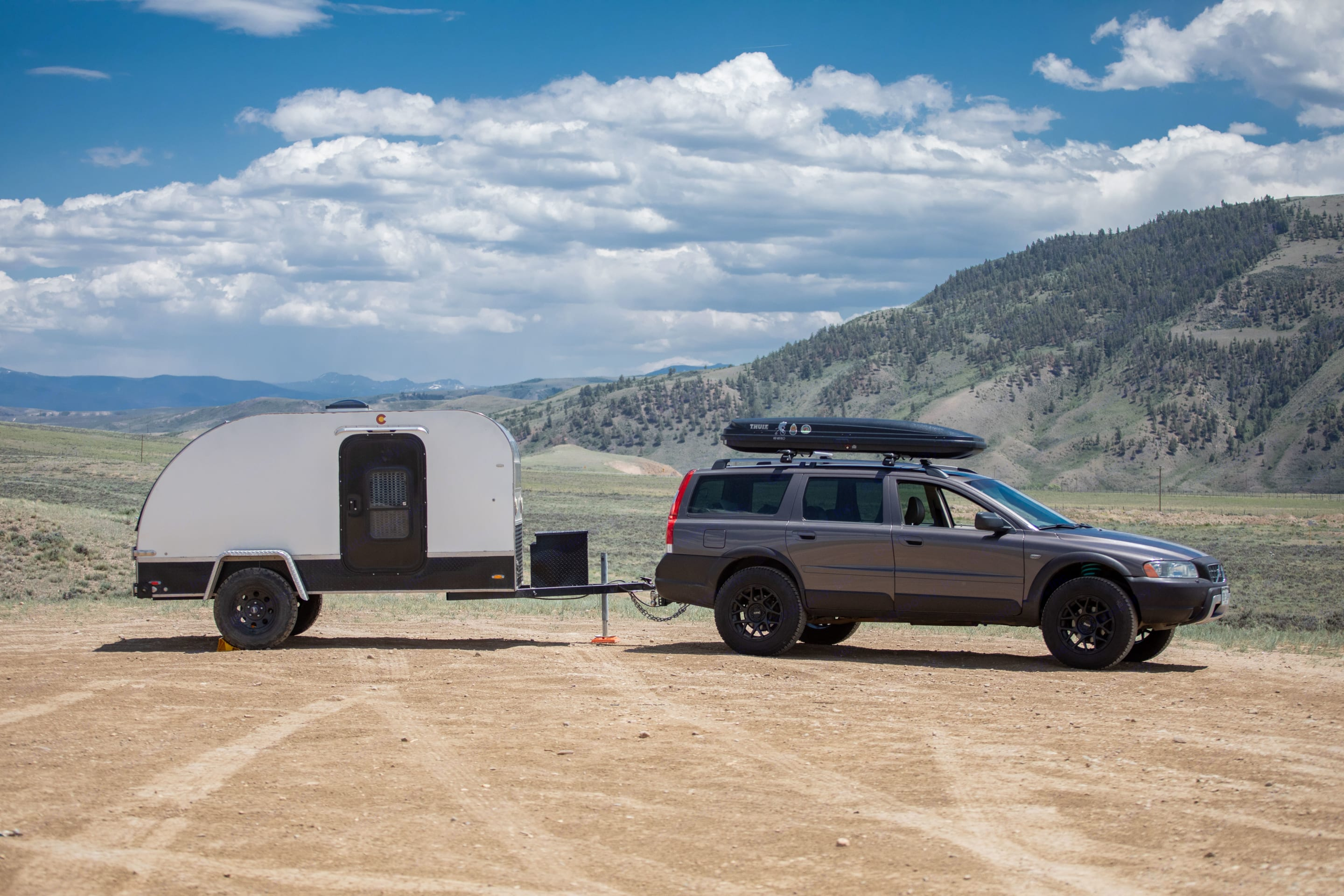 Tows great with our Volvo XC70 wagon!. Colorado Teardrops Mount Massive 2017