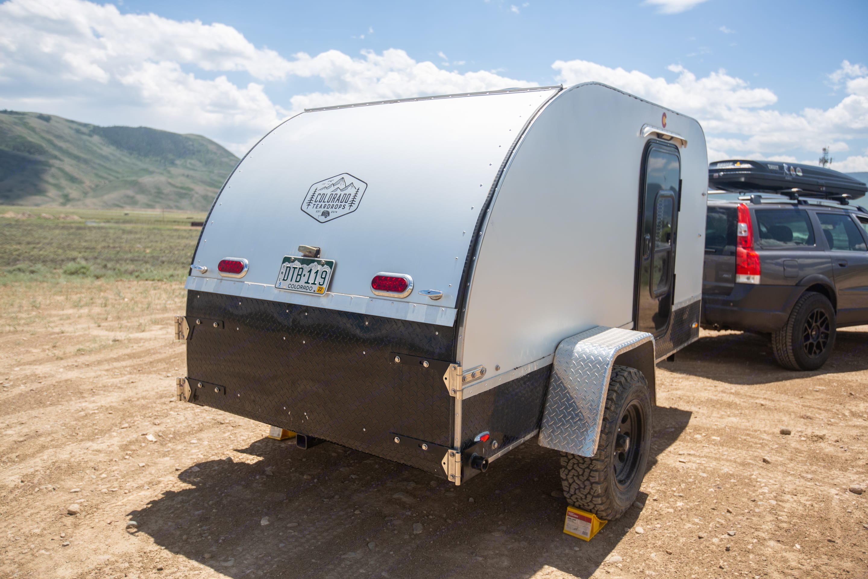 The rear galley locks for safety.. Colorado Teardrops Mount Massive 2017
