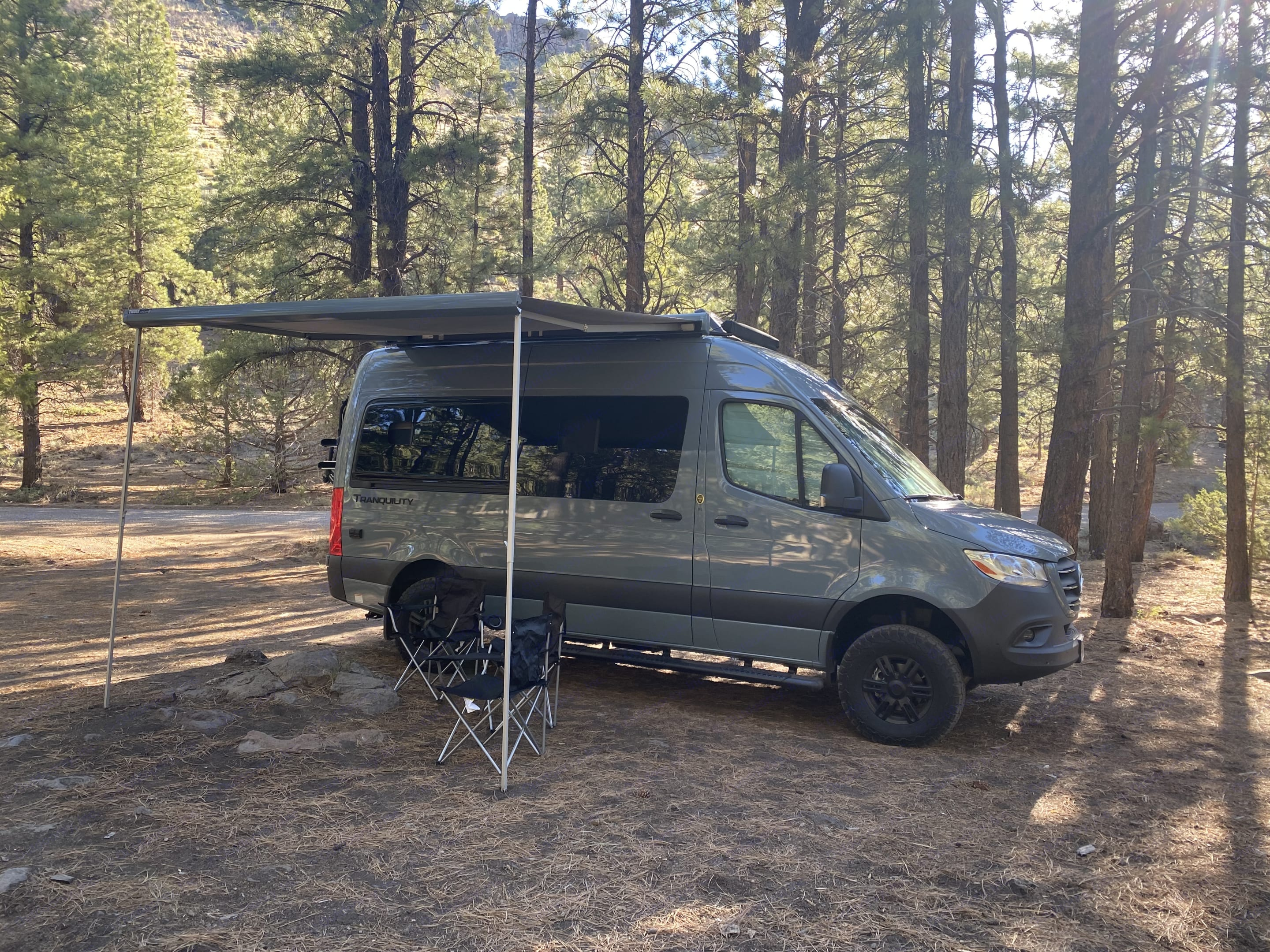 Bring your shade with you. This van has an electric awning and comes with 4 camp chairs.. Thor Motor Coach Other 2022