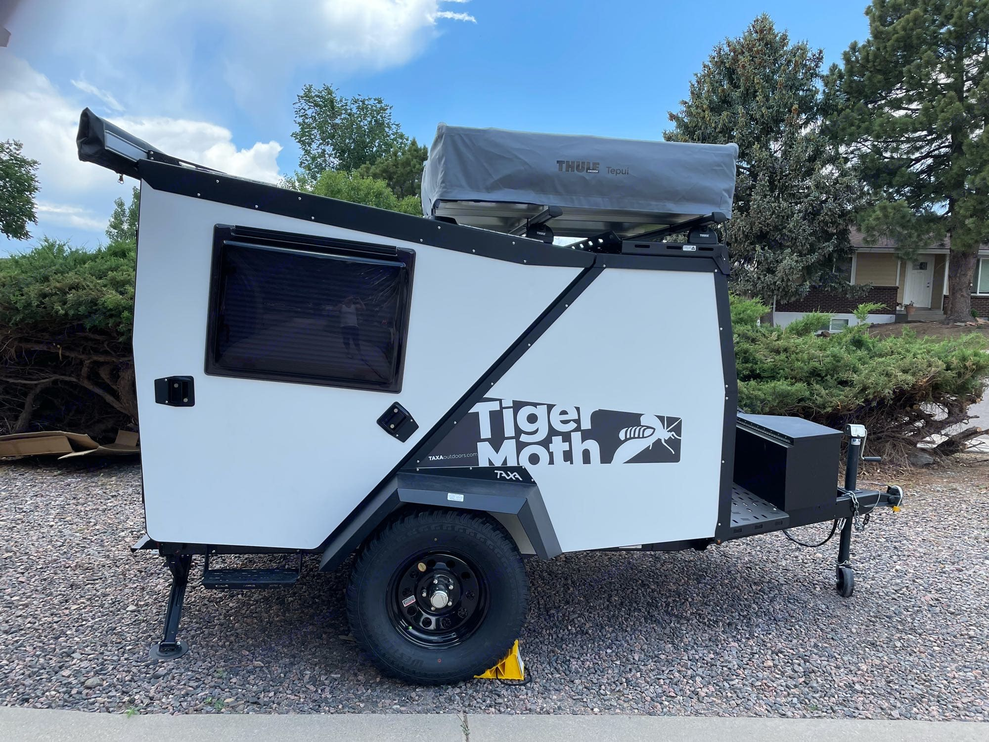 The TigerMoth folded up and ready to travel.. TAXA Outdoors Tigermoth Camper 2021