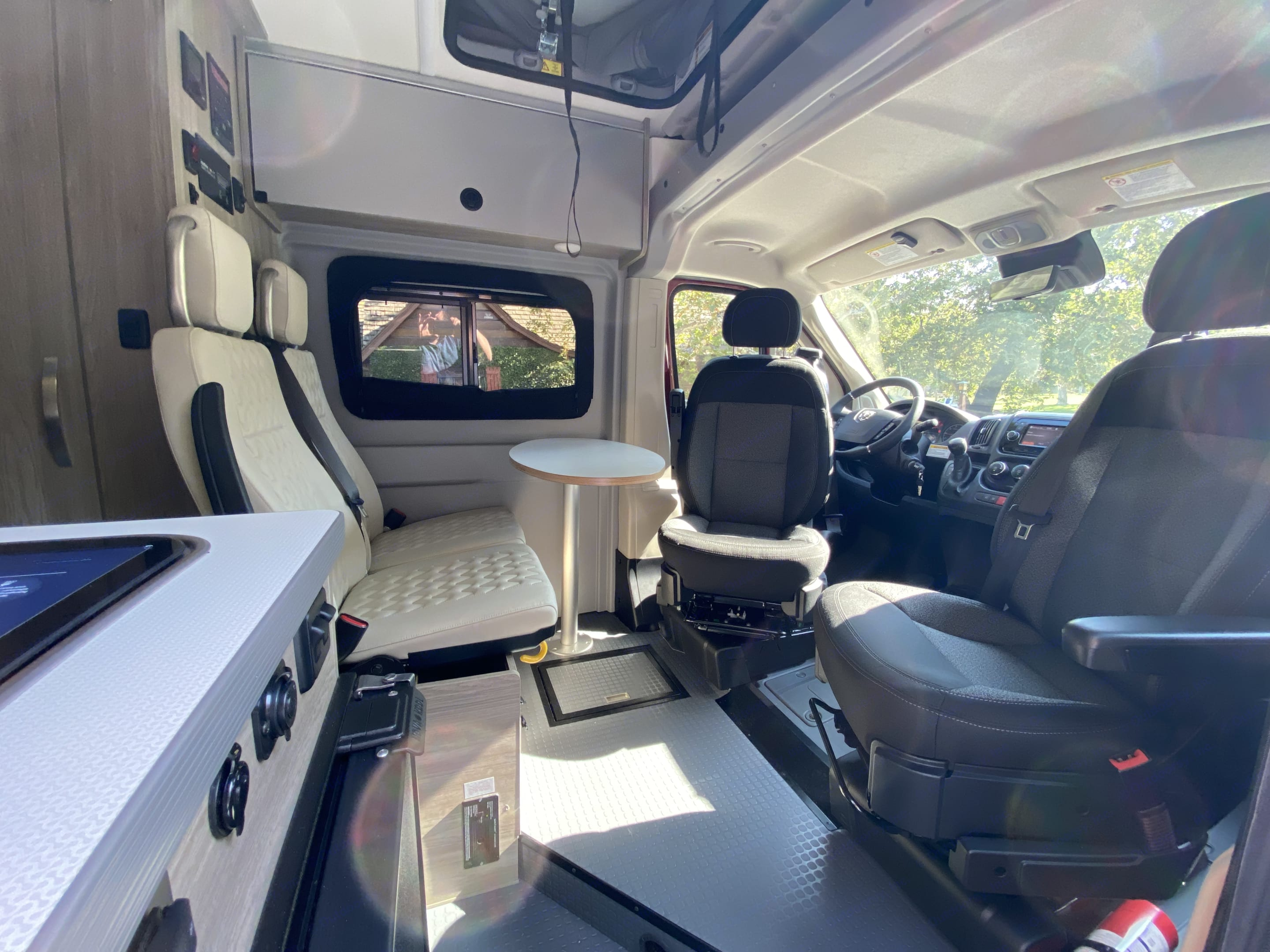 The dining area is very comfortable and the table is removable. It stores behind the seats when not in use. . Winnebago Winnebago 2022
