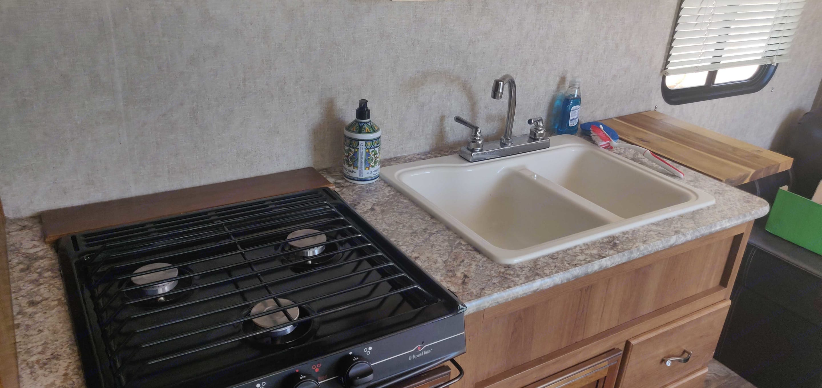 sink and stove in the kitchen. Prime Time Avenger 2016