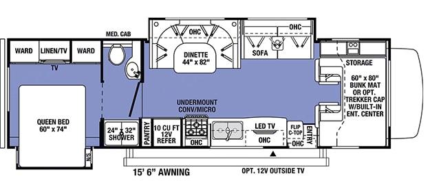 SS3010 Layout. Forest River Sunseeker 2021