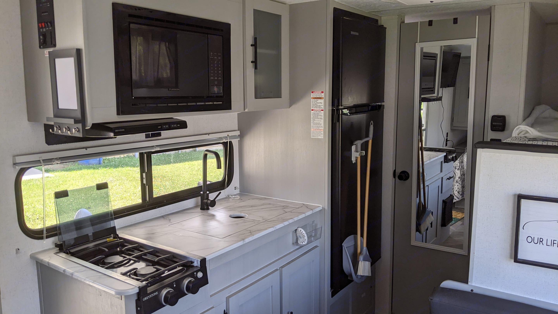 kitchen. Forest River Wildwood 2021