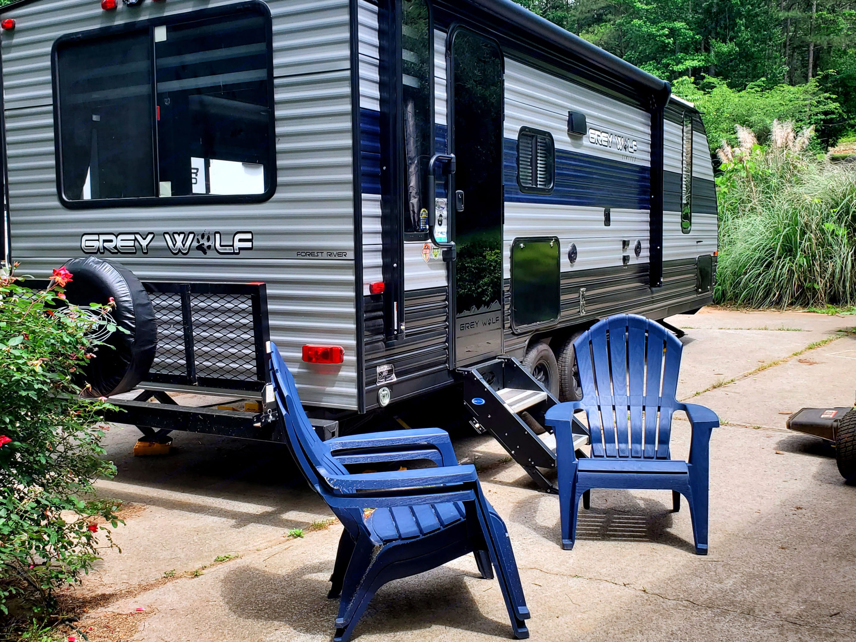 Chairs are not included in rental. Forest River Cherokee Grey Wolf 2021