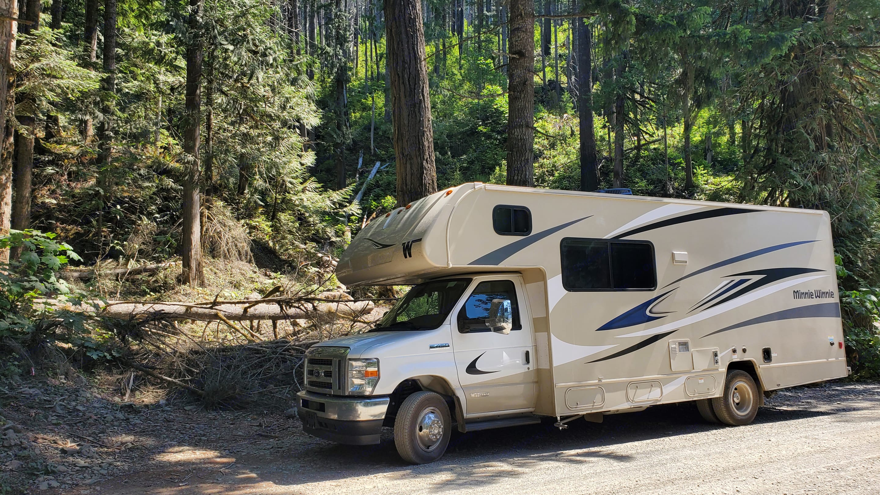 What photo will induct you during your journey with the Haul of Fame?  This is in the Olympic National Forest in Washington state. . Winnebago Minnie Winnie 2022