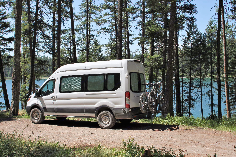 The Aluminum Flacon taking a quick lake break in the summer heat.. Ford Custom Transit 2019