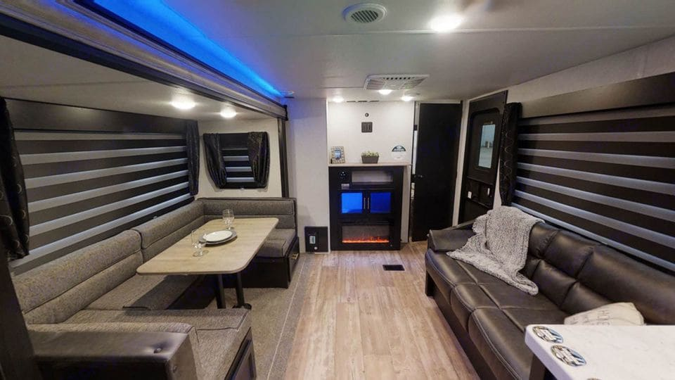 TV is included (not currently pictured). TV can be moved outside as well. Coaxial cable available with the RV for sites that offer cable service.. Forest River Cherokee 2021