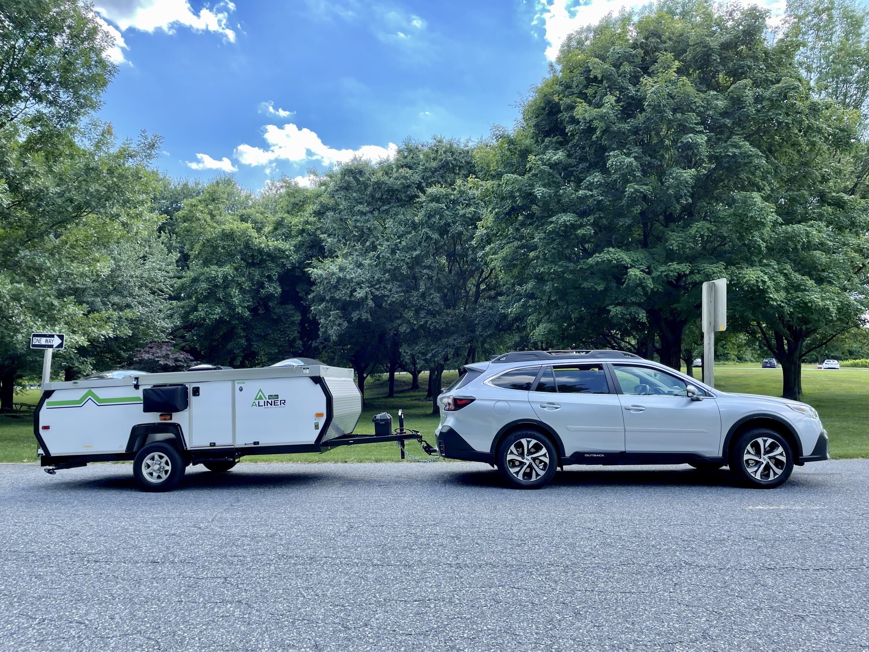 Towing in action.. A-Liner Scout 2021