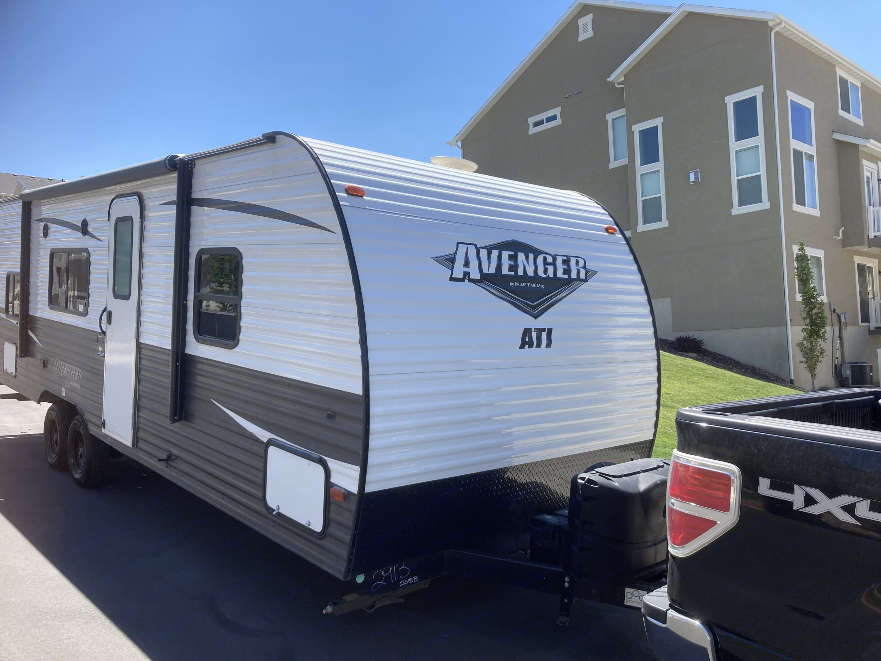This 2019 ATI Avenger 26BB looks as sharp going down the road as it does on the inside. . Prime Time Avenger 2019