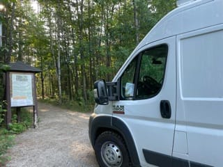 """Freebird waits patiently while you've gone for a hike!. Dodge Ram Promaster 2500 159"""" Hi-Top 2018"""