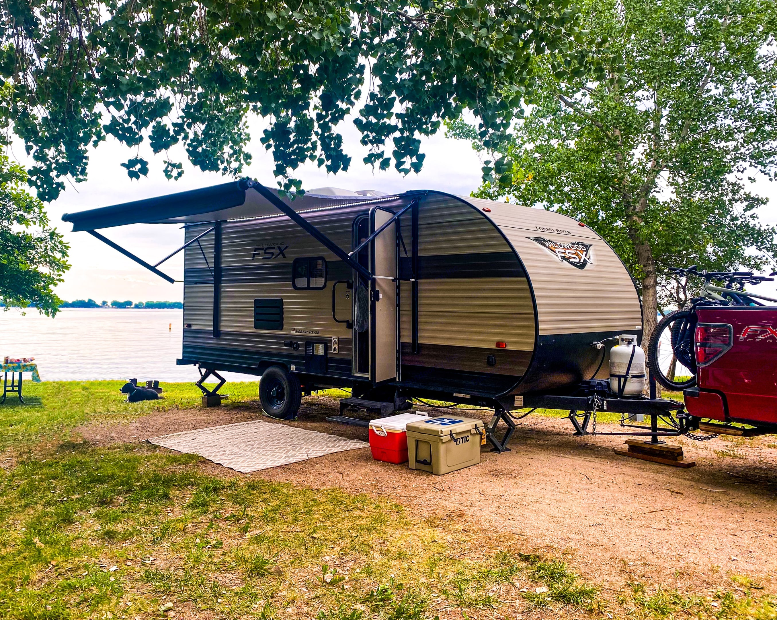 A recent trip to the lake with our RV.. Forest River Wildwood 2020