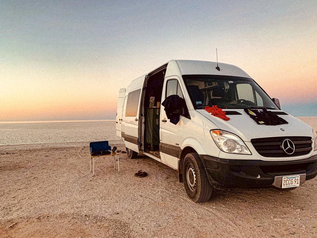 Propane, cookstove, and foldout table are all included in the rental. You're in charge of finding the beach!. Mercedes-Benz Sprinter 2013