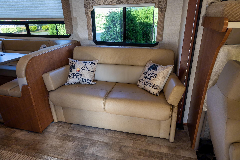 Sofa has a hide-a-way bed.. Winnebago Minnie Winnie 2017