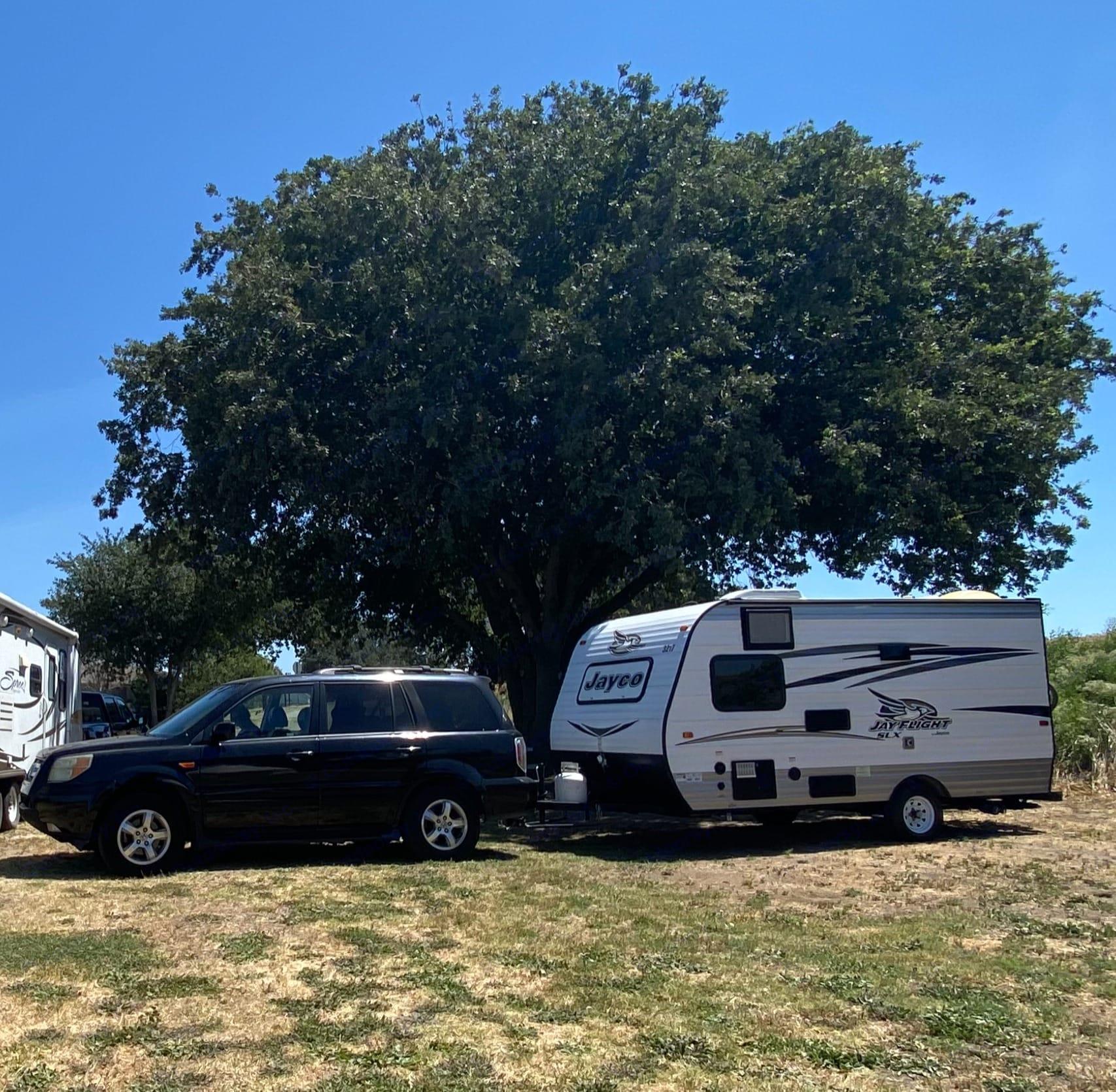 Camping at the Meadows of Isleton. Jayco Jay Flight 154BH 2016