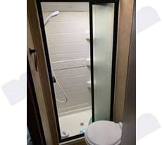 Shower for two?? Very spacious for an RV!. Forest River Solera 2013