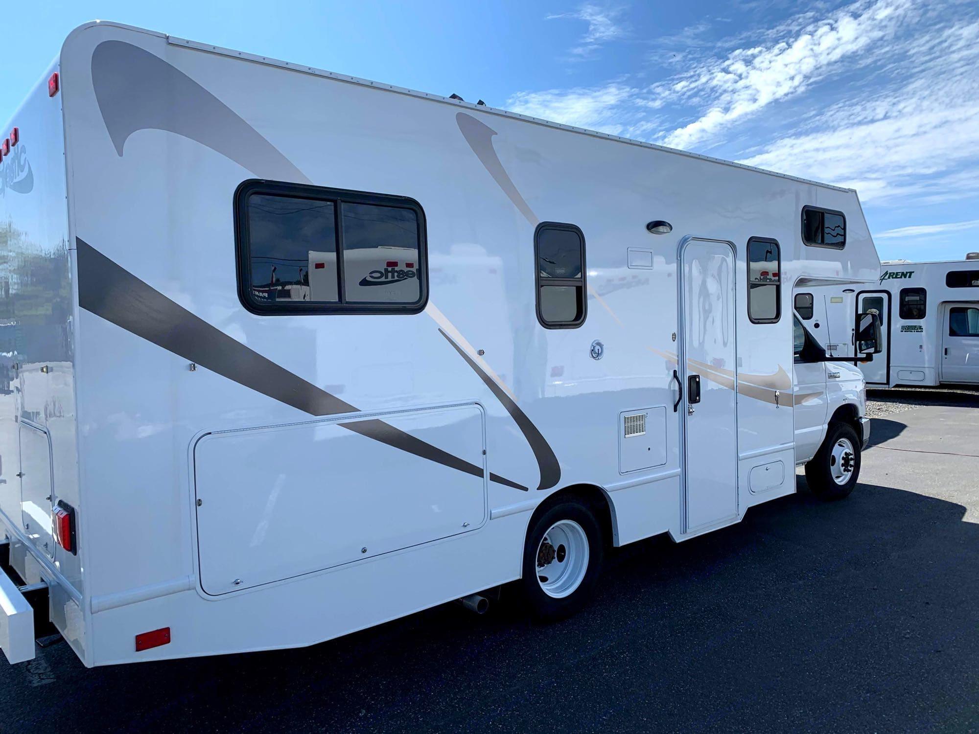 Large Storage in back. Thor Motor Coach Majestic 2015