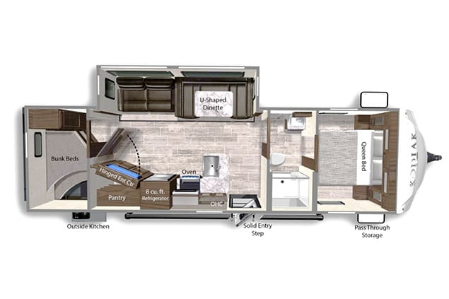 Lots of space and master room privacy.  . Dutchmen Kodiak 2021