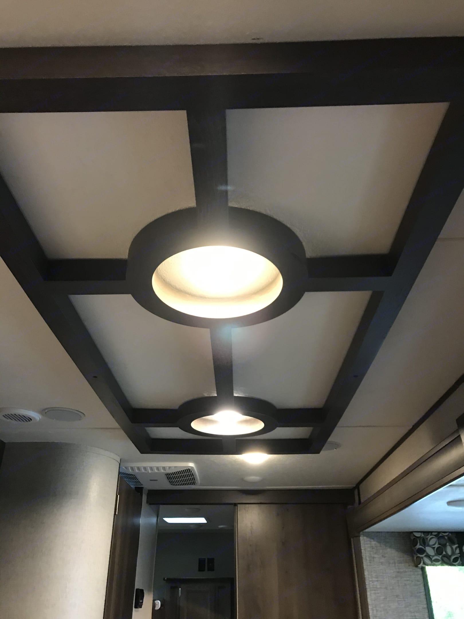 I need custom ceiling lighting that also changes to blue lights. Shasta Revere 2019