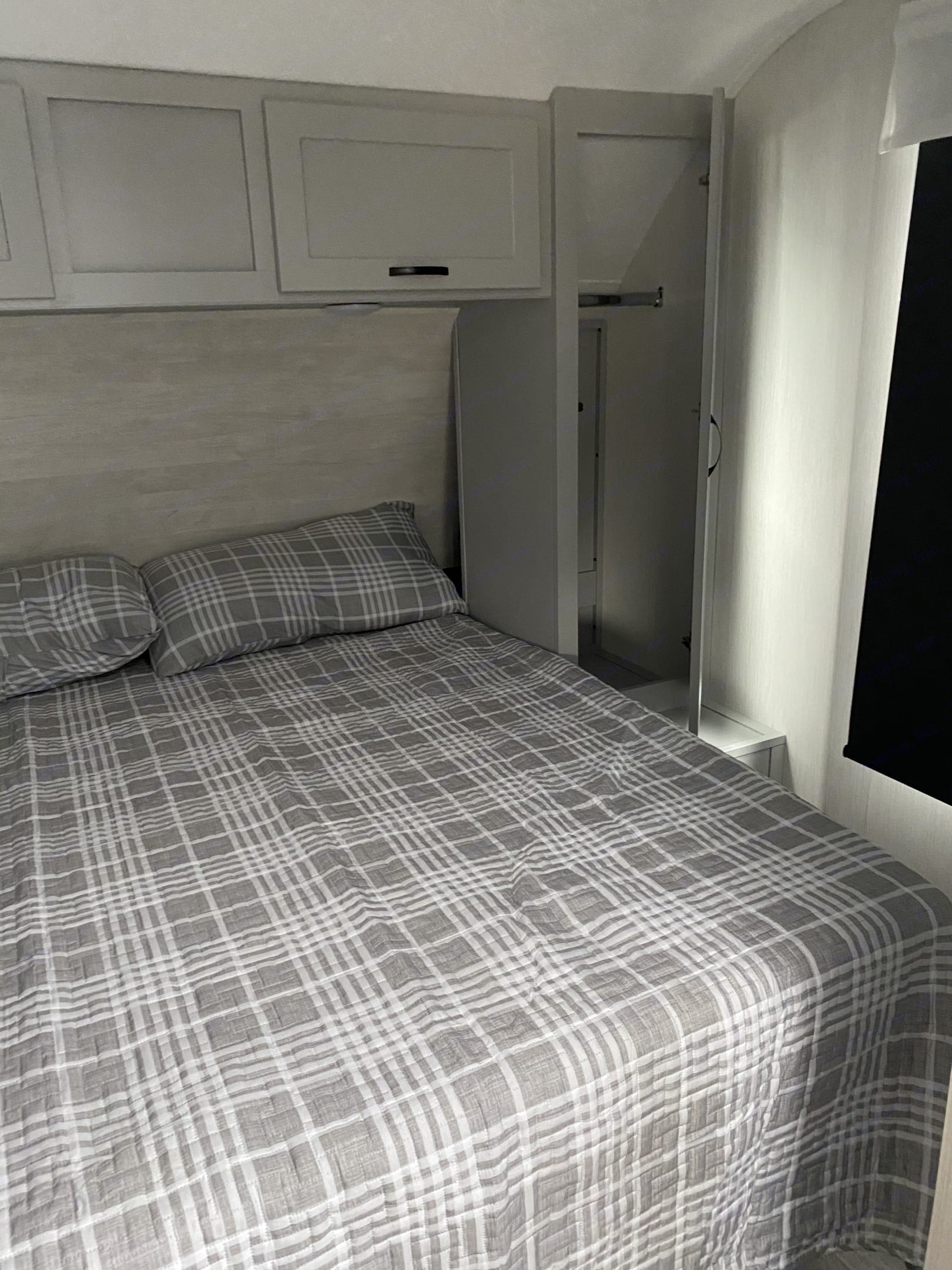 Plenty of room with this full sized bed!. Forest River Vibe 2021