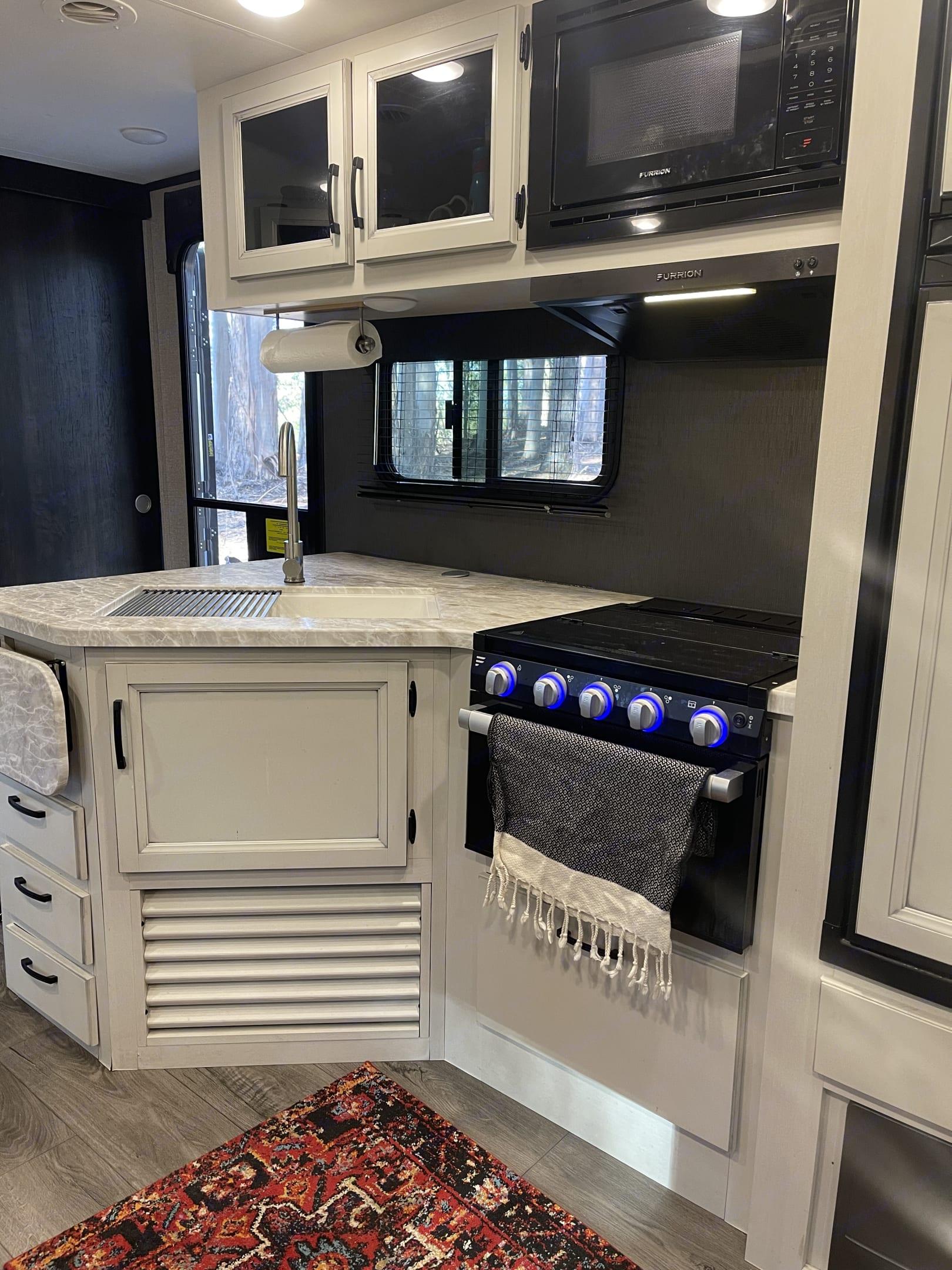 Modern farmhouse kitchen . Jayco Jay Feather 2021