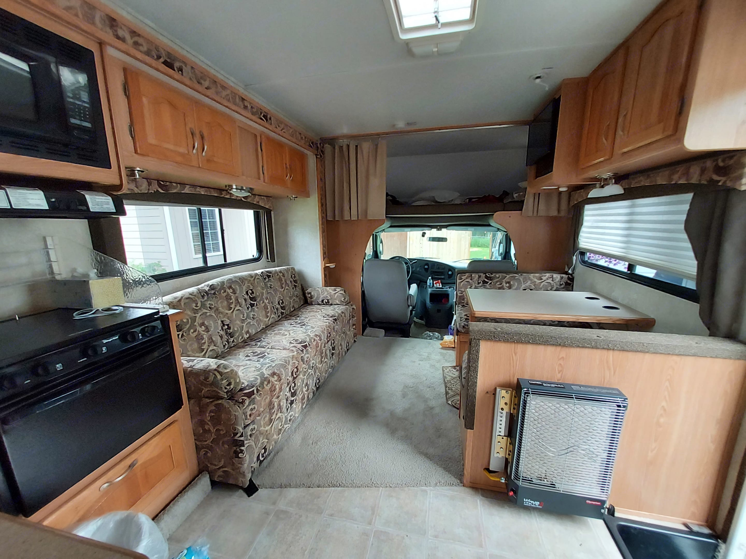 standing from entry looking toward front cab. Forest River Sunseeker 2005