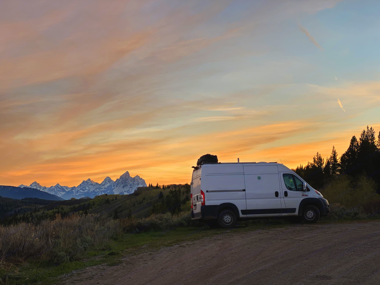 Grand Tetons National Park, WY. RAM Promaster 1500 136WB 2016