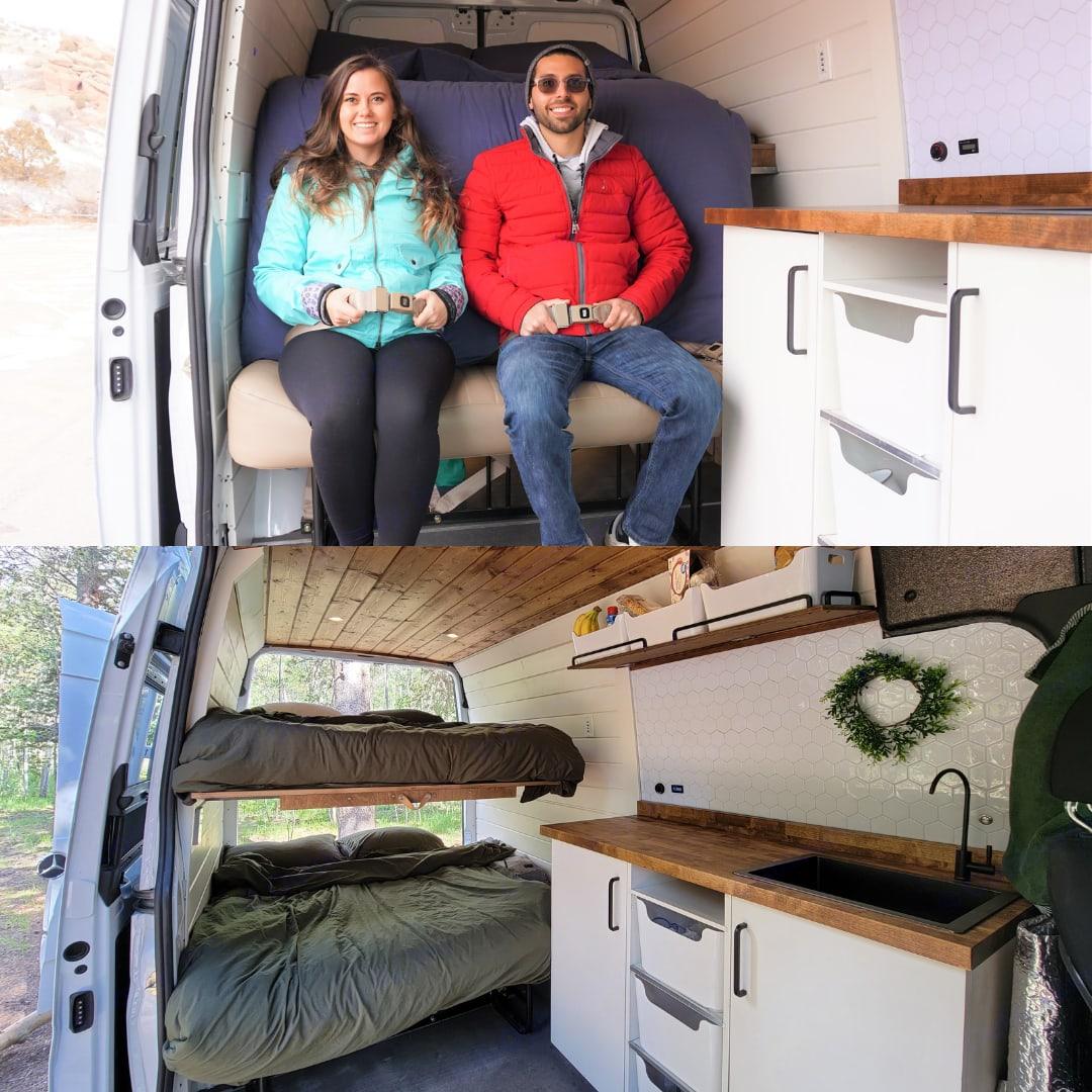 Back seat converts into bunk beds. Mercedes-Benz Sprinter 2020