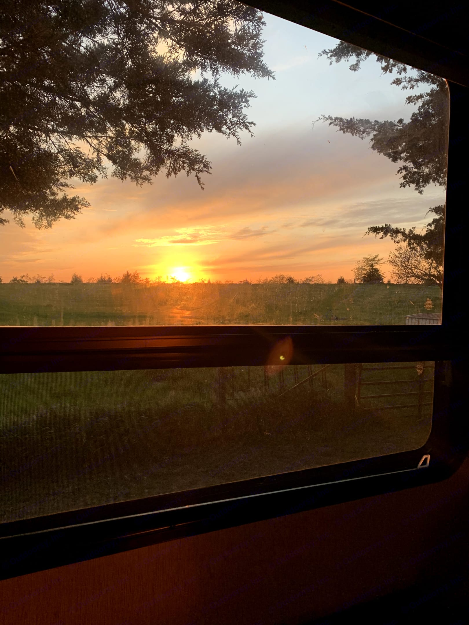 One of the many beautiful sunsets we've caught from this window.. Heartland Big Country 2019