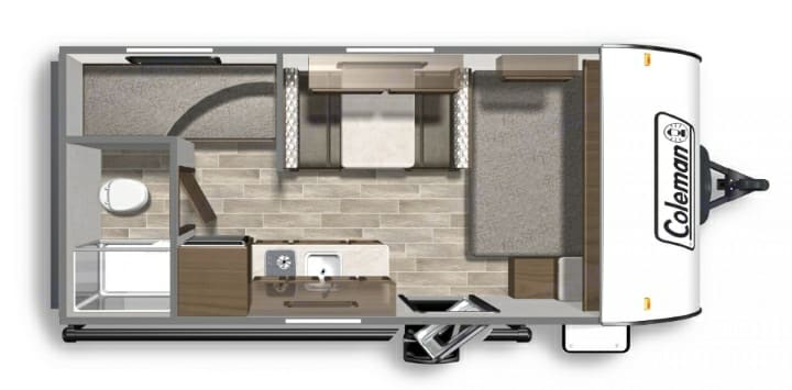 Every necessity in a compact, cozy space! The interior space packs in the necessities for a comfortable camping experience in a light weight towable!. Dutchmen Coleman 2021