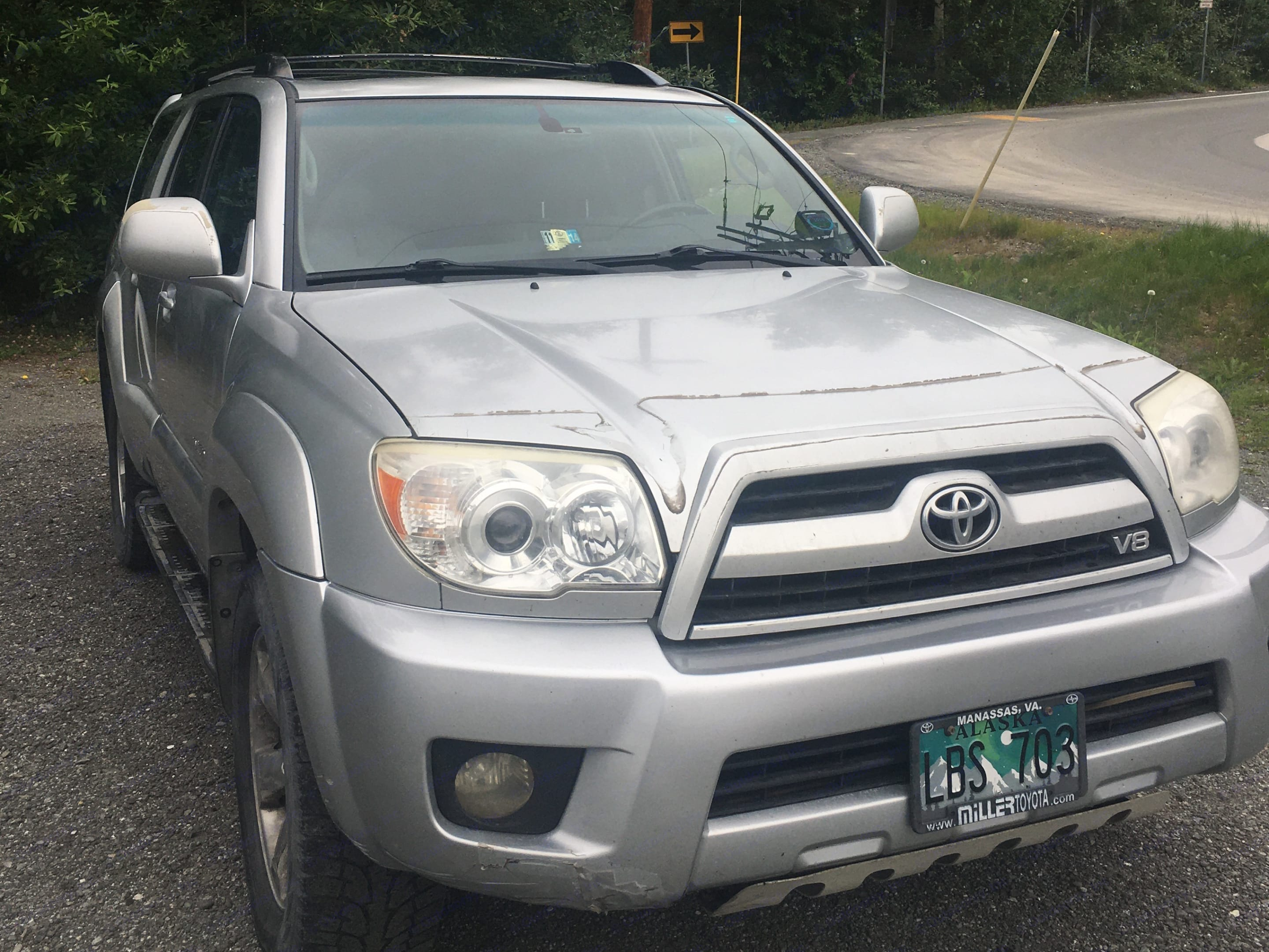 Freshly washed, oil changed, fluid and tires checked: ready to take you around Alaska.. Toyota 4-Runner 2006