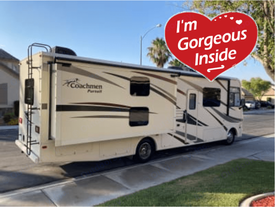 Passenger's side with one of two slides extended.. Coachmen Pursuit 2019